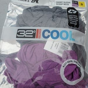 2 Pack 32 Degrees Cool Scoop Neck Tees T-Shirts